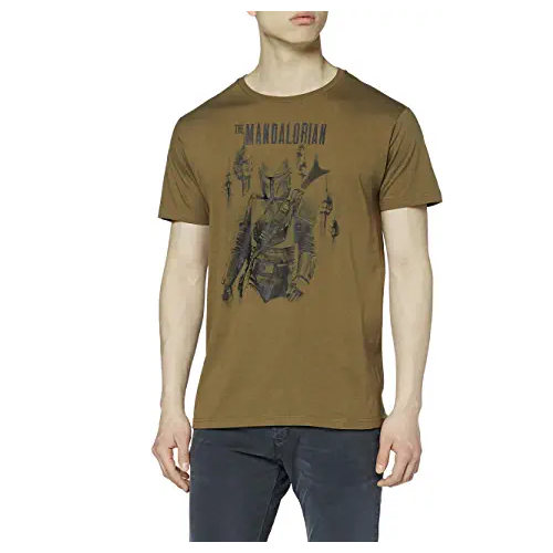 Camiseta-hombre-verde-The-Mandalorian-Star-Wars-Disney