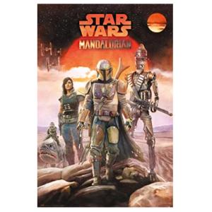 Poster-Personajes-The-Mandalorian-Star-Wars-Disney